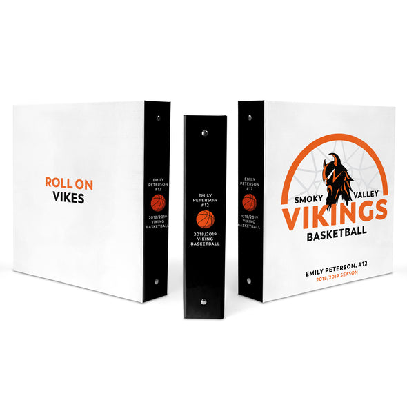 Viking Basketball Binder Scrapbook