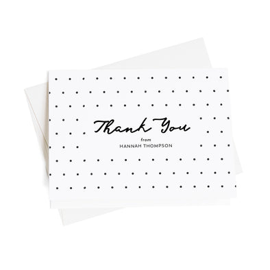 Cheerful Polka Dot Personalized Thank You Cards, 10 Card Set
