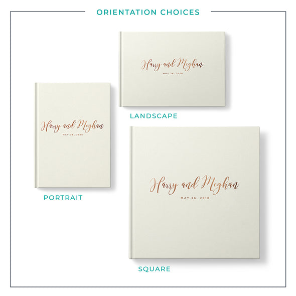 Sweet + Simple Foil Wedding Guest Book, GB218PF