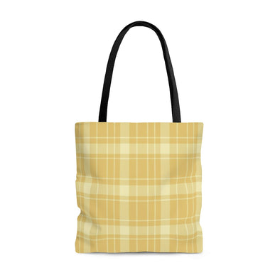 Buffalo Plaid Tote Bag, Yellow