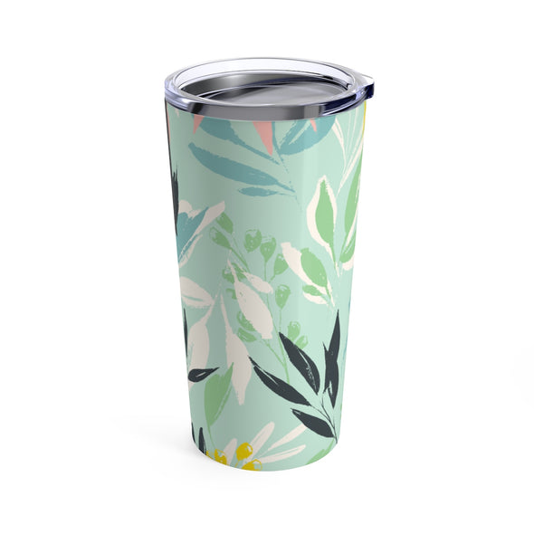 Personalized Spring Floral Drink Tumbler, 20 oz.
