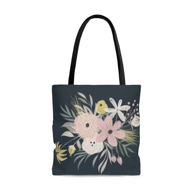 Pretty Pink Floral Tote Bag
