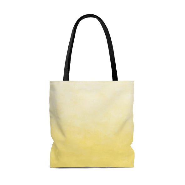 Personalized Watercolor Ombre Tote Bag, Sunny Yellow