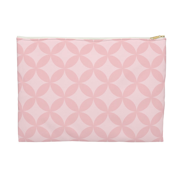 Circle Pattern Accessory Pouch, Pink