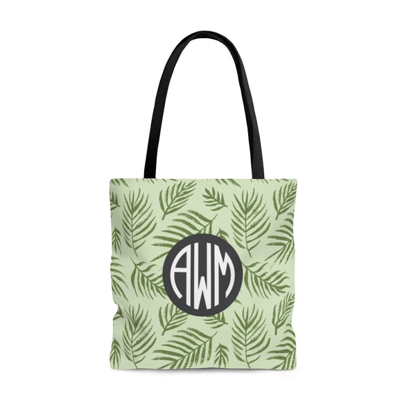 Personalized Palm Leaves Tote Bag