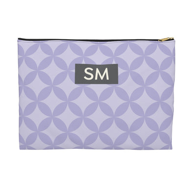Personalized Circle Pattern Accessory Pouch, Lavender
