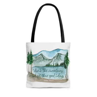 Climb the Mountains Tote Bag
