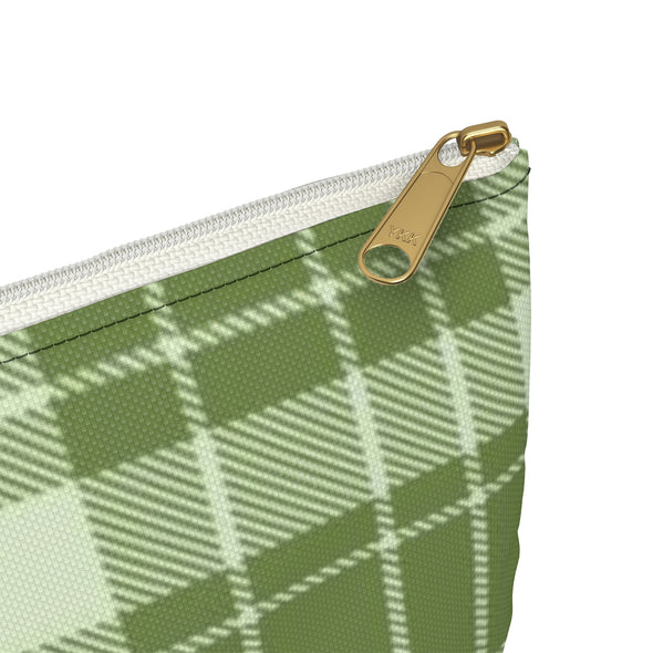 Buffalo Plaid Accessory Pouch, Green