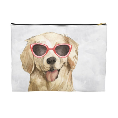 Golden Retriever with Sunglasses Pooch Pouch