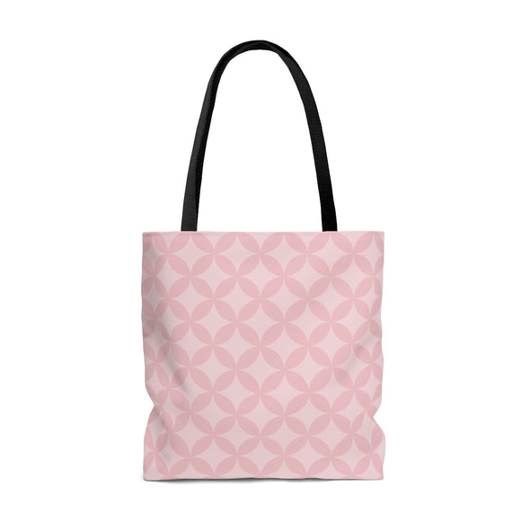 Personalized Circle Pattern Tote Bag, Pink