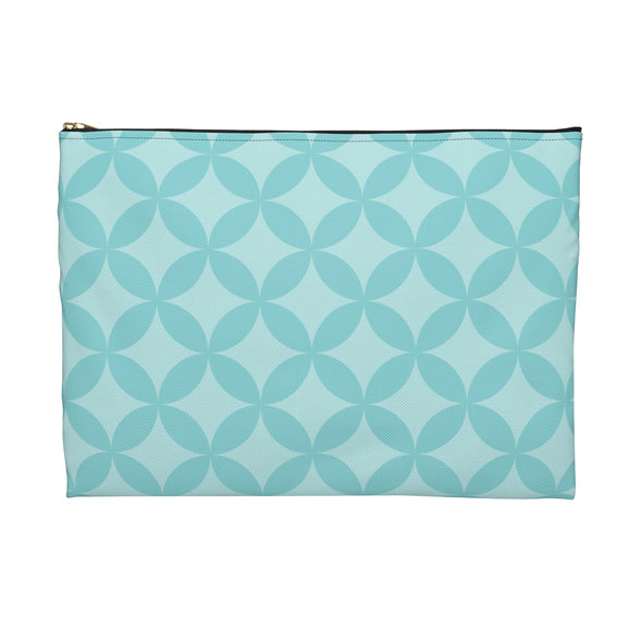 Circle Pattern Accessory Pouch, Blue