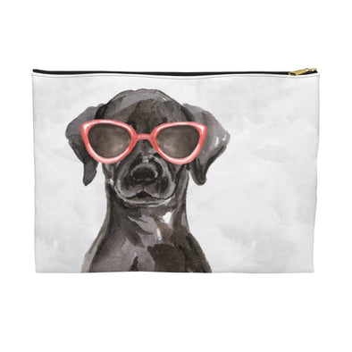 Black Lab with Sunglasses Pooch Pouch