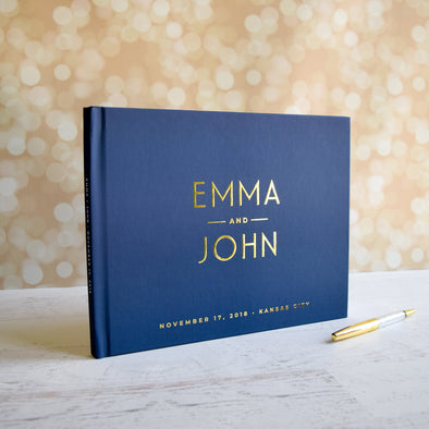 Wedding Guest Book Wedding Guest Book Alternative Rustic Wedding Guest Book Wedding Guest Book Ideas Unique Wedding Guest Book Navy GB200