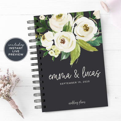 White Floral Wedding Planner