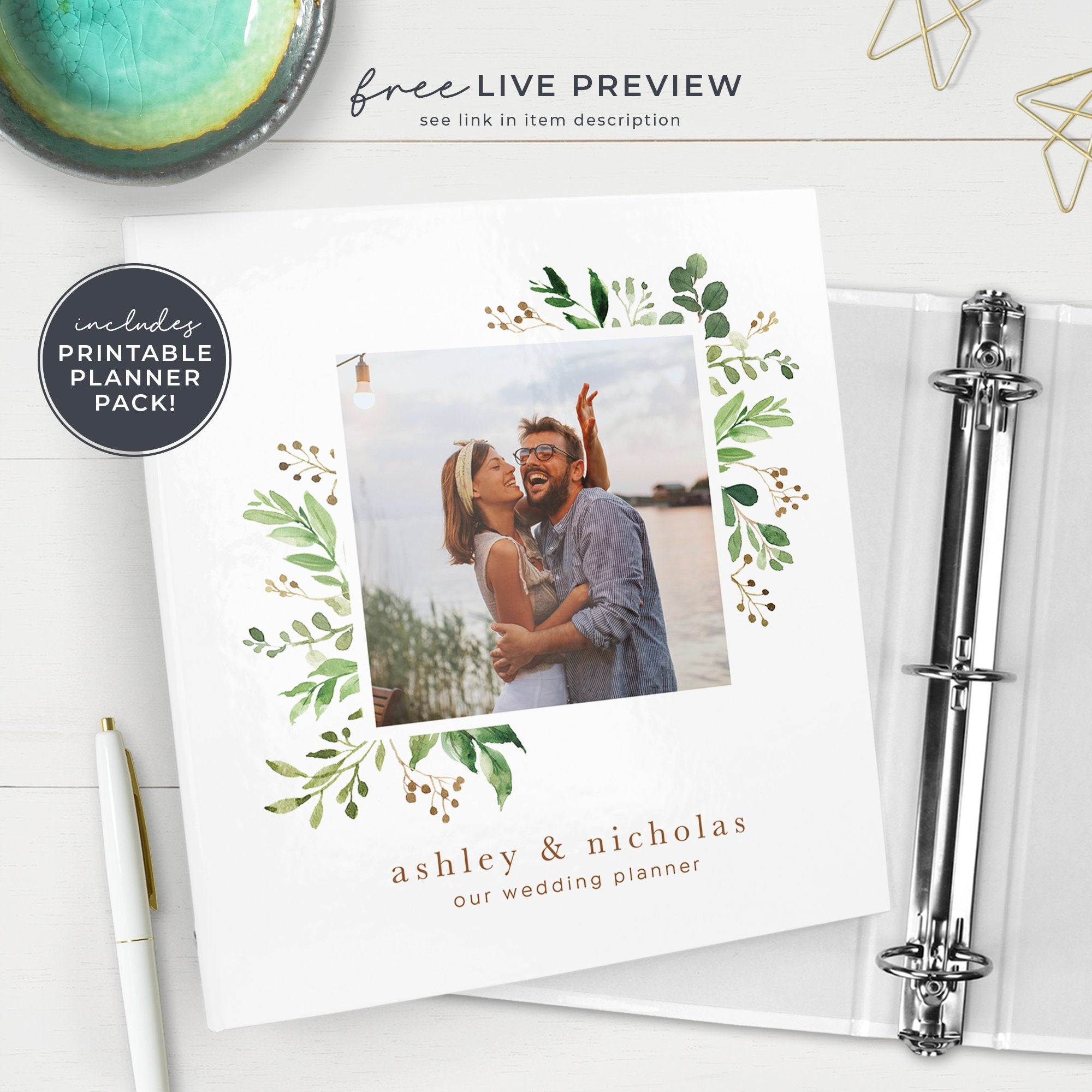 graphic about Free Printable Wedding Planner Binder called Marriage ceremony Planner Binder with Photograph