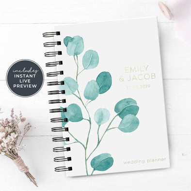 Simple Wedding Planner with Silver Foil