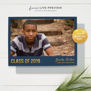 Simple, Modern Graduation Announcement