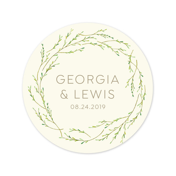 Rustic Wedding Favor Labels