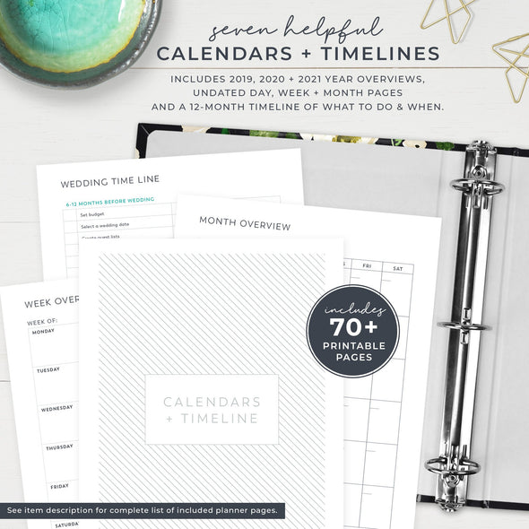 Wedding Planner Binder with Printable Planner Pages