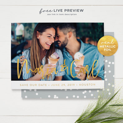 Cheerful Photo Save the Date Cards