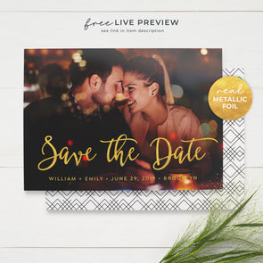 Charming Photo Save the Date Cards
