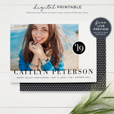 Printable Photo Graduation Announcements