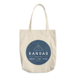 Sunsets & Stars Kansas Cotton Tote Bag