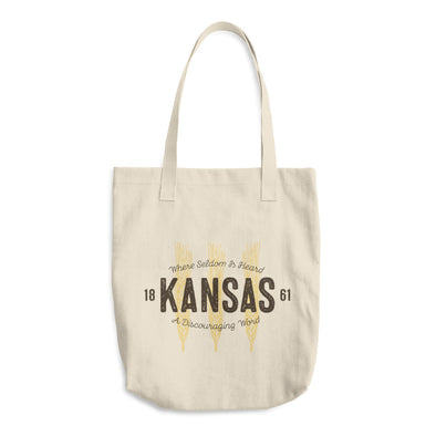 Wheat State Kansas Cotton Tote Bag
