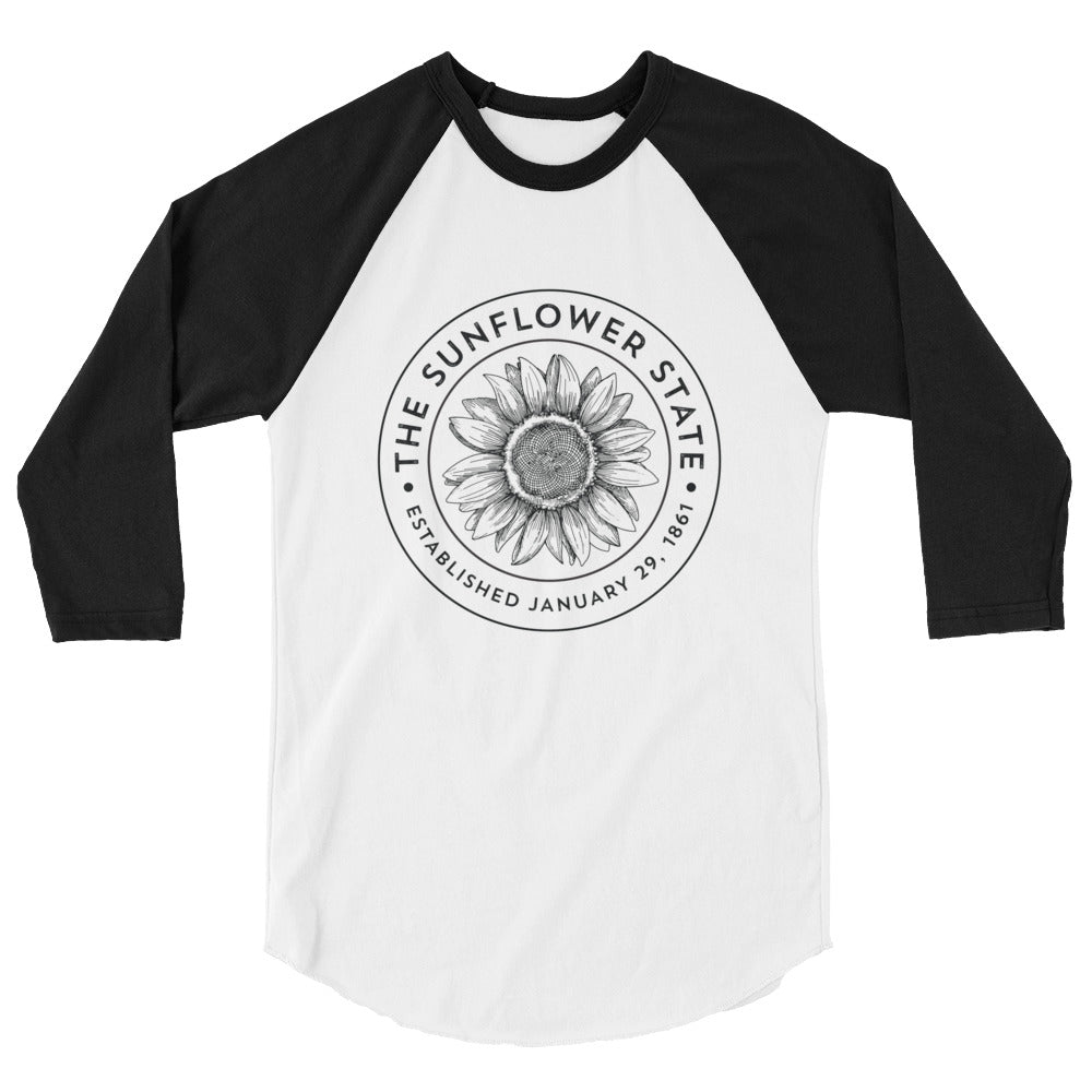 Sunflower State Old School Baseball Raglan Shirt