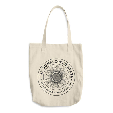 Sunflower State Cotton Tote Bag