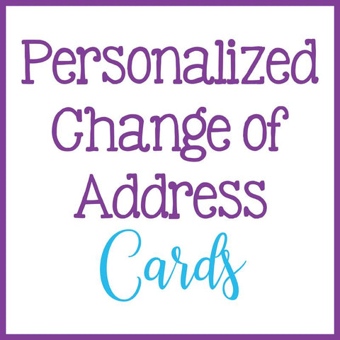Personalized Change of Address Postcards