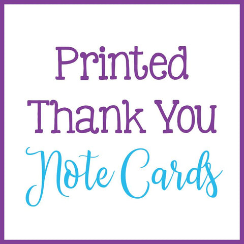 Thank You Note Cards - Printed