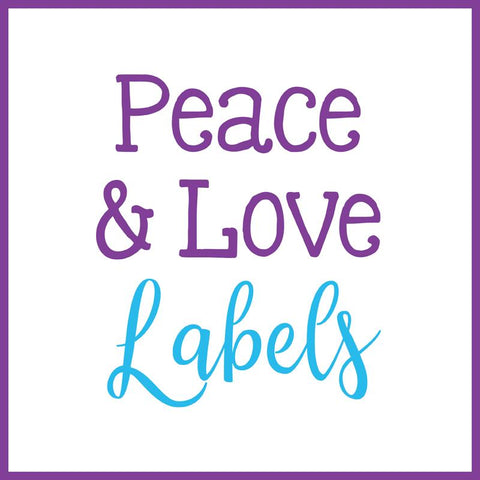 Peace & Love Themed Labels