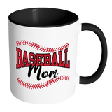 BASEBALL MOM Color Accent Coffee Mug - J & S Graphics