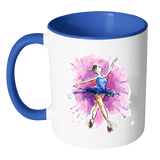BALLET DANCER Color Accent Coffee Mug - J & S Graphics