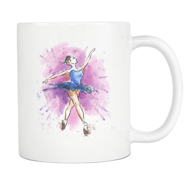 BALLET DANCER 11oz White Ceramic Coffee Mug - J & S Graphics
