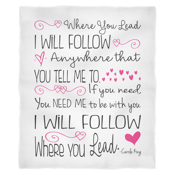Where You Lead I Will Follow - Gilmore Quote Ultra Plush Fleece Blanket
