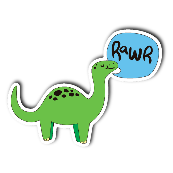 DINOSAUR DINO RAWR Vinyl Die Cut Sticker - J & S Graphics