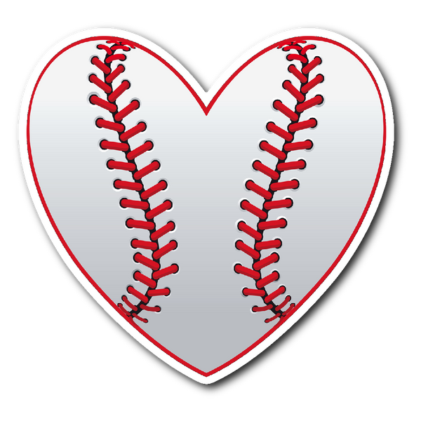 LOVE BASEBALL Vinyl Die Cut Sticker