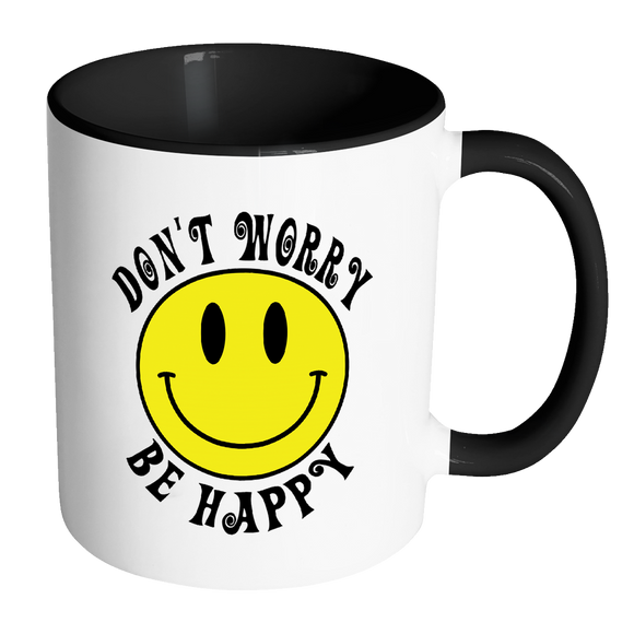 Worry Accent Don't Smiley Happy Be Face Color Coffee Retro Mug ybf6IgY7v