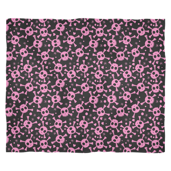 PINK PIRATE SKULL DESIGN Ultra Plush Fleece Blanket