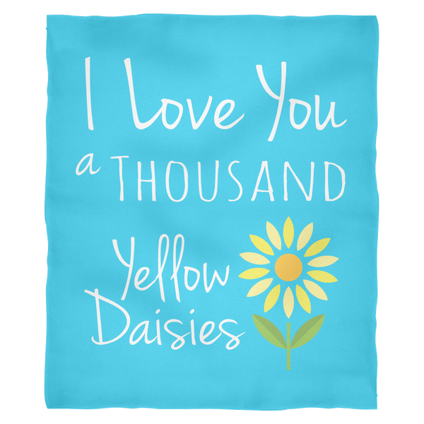 I Love You a Thousand Yellow Daisies - Gilmore Quote Ultra Plush Fleece Blanket
