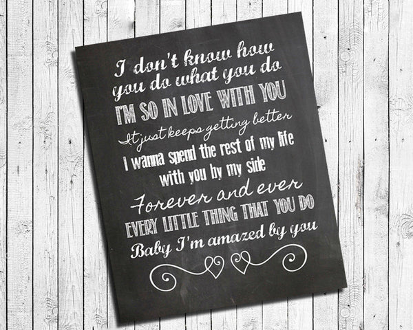 AMAZED Lonestar Song Lyric Quote Digital Typography Instant Download Art File - J & S Graphics