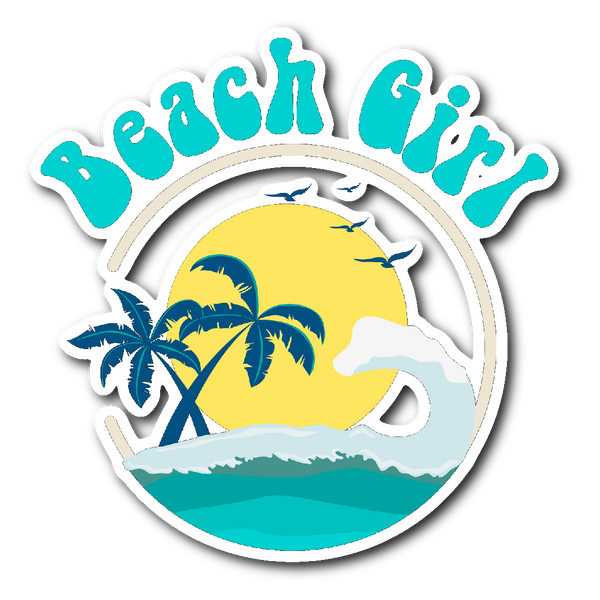 BEACH GIRL Vinyl Die Cut Sticker - J & S Graphics