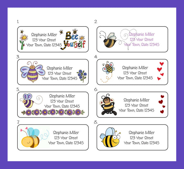 BEES, Bumble Bees Personalized Return Address Labels - J & S Graphics