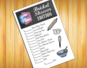 Price Is Right Bridal Shower Game Instant Download Wedding Shower J S Graphics