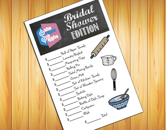PRICE is RIGHT Bridal Shower GAME - Instant Download - Wedding Shower - Game - Digital File - J & S Graphics
