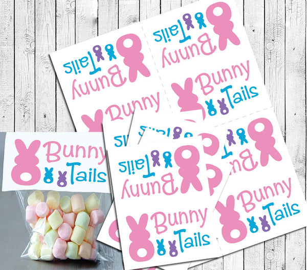 EASTER BUNNY TAILS Goody Bag Toppers Instant Download