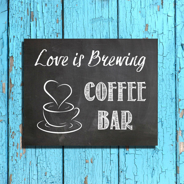 Rustic Look Coffee Bar Instant Download 8x10 Printable Wedding Sign J Amp S Graphics