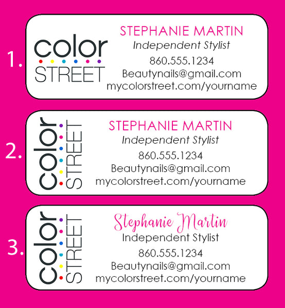 COLOR STREET Personalized Catalog Labels, 30 Return Address, Home Parties, Nails - J & S Graphics